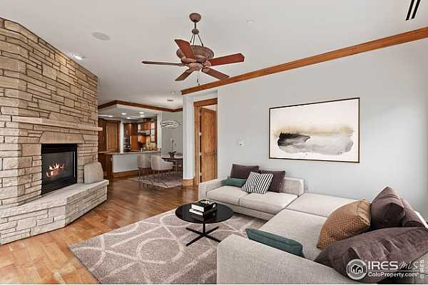 Photo #1 Spacious Living Room with Fireplace - Virtually Staged